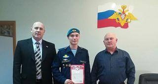 Бывший кадет Крылатой Гвардии успешно проходит армейскую службу