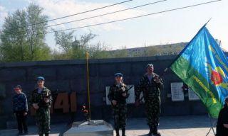 Десантники и кадеты Каменска-Уральского в Почетном Карауле 9 мая 2019 года