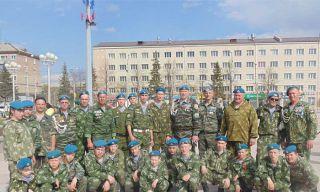 Взвод десантников Каменска-Уральского завоевал первое место в строевом смотре